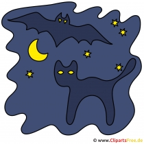 Cadılar Bayramı Clipart - kara kedi