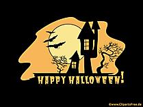 Clipart château sombre pour Halloween