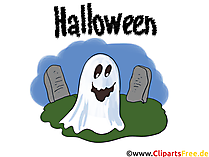 Gespenst Clipart, Bild, Illustration, Grafik, Karte zu Halloween