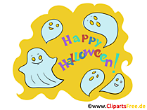 Ghosts cliparts na Halloween