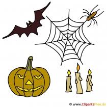 Halloween Deko Ideen mit unseren kostenlosen Cliparts