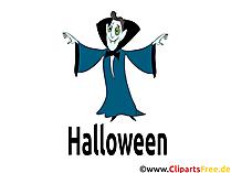 Halloween Drakula-Kostüm - Cliparts, Bilder, Grusskarten, Vorlagen für Einladungen