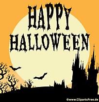 Carte de voeux Halloween, clipart gratuit