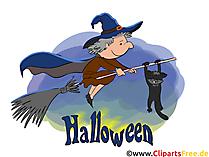Halloween Grüsse - Cliparts, Bilder, Grusskarten, Vorlagen für Einladungen