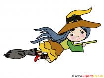 Cadı görüntüsü, çizgi film küçük resim, resmi