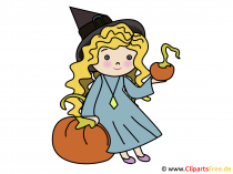 Witch Clipart, Illsutration, wolny obraz