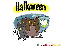 Klappkarte zu Halloween basteln - Illustrationen, Bilder, Grafiken, Cliparts, Cartoons zu Halloween
