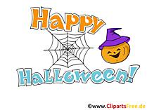 Lustige Grüße zu Halloween Cliparts, Bilder, Cartoons