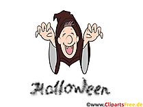 Komik cadı görüntüsü, küçük resim, illüstrasyon, kart, eCard