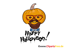 Lustiger Kürbis Clipart, Bild, Cartoon zu Halloween