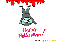 Lustiger Vampir Clipart, Bild, Cartoon zu Halloween