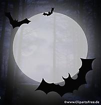 Lune dans la forêt effrayante clipart