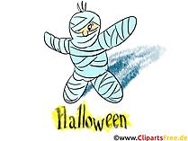 Mumie Bild-Clipart - Cliparts, Bilder, Grusskarten, Vorlagen für Einladungen zu Halloween