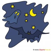 ハロウィーンのための夜空の写真