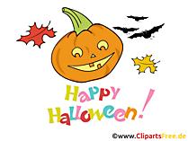 Niedliche Grusskarte zu Halloween