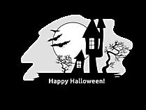 Schwarz-weiße Bilder zu Halloween