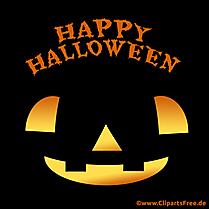Carte De Voeux Noir Joyeux Halloween - PNG Cliparts Gratuits