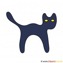 Schwarze Katze Bild-Clipart
