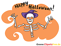 Skelett Cartoonbild zu Halloween