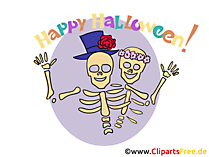 Skelett Clipart, Bild, Cartoon zu Halloween