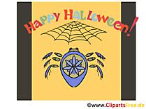 ハロウィーンのためのクモのクリップアート