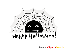 Spinnennetz Clipart, Bild, Cartoon zu Halloween