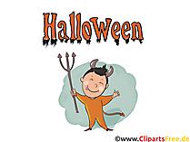 Teufelchen Clipart - Bilder, Grusskarten, Cliparts, Vorlagen für Einladungen zu Halloween