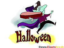 Vampir Clipart Illustration zu Halloween