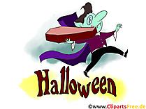 ハロウィーンの吸血鬼クリップアートイラスト