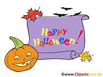 Witziger Kürbis Clipart, Bild, Cartoon zu Halloween