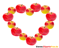 Cadru format din mere - poze de toamnă cu fundal transparent