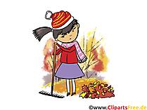 Download foto's over de herfst, werk in de tuin