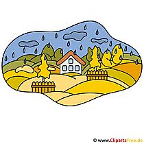 Dorf Clipart - Herbst Bilder gratis