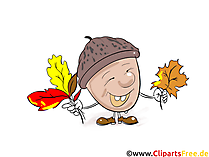 Eichel Clipart, Bild, Grafik, Comic, Cartoon gratis