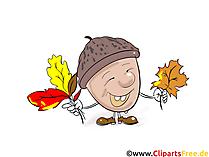 Acorn Clipart, Image, Graphic, Comic, Cartoon Free