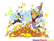 Gratis foto's van gelukkige kinderen in de herfst