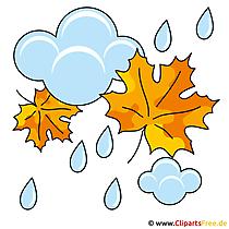 Autumn afbeeldingen - Regen clipart gratis