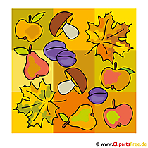 Herbst Bilder gratis - Obst Clipart