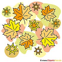 Herbst Wallpaper -  Ahornblätter Clipart