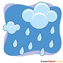 Hemel, wolken en regen clipart afbeelding gratis