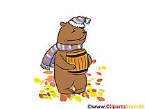 Hoge resolutie afbeeldingen gratis - beer met honing