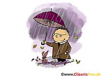Download gratis foto's over de herfst, wandelen in de regen
