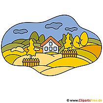 Landschaft Clipart - Herbst Bilder gratis