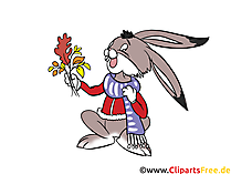 Lustiger Hase, Kaninachen Clipart, Cartoon, Comic, Illustration