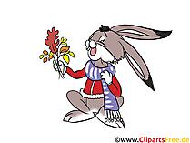 Grappige Haas, Kaninachen Clipart, Cartoon, Comic, Illustratie