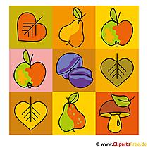 Fruit Clipart - Herfstafbeeldingen gratis
