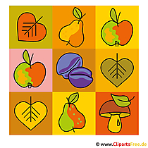 Obst Clipart - Herbst Bilder gratis