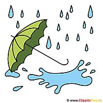 Regen Bild - Clip Art Herbst
