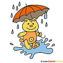 Regenbeeld - herfst Clipart