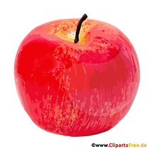Red Apple Clipart, Image, Illustration ca fișier PNG